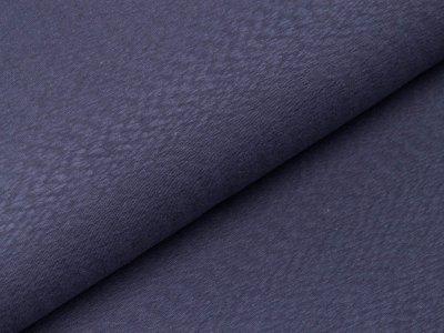 Slub-Jersey Jacquard Swafing Prag - uni jeansblau
