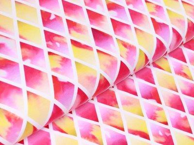 Jersey Swafing Crystal Magic by lucklig design - Edelsteine - weiß/pink
