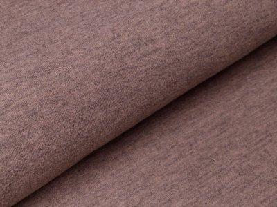 Tweed Wolloptik - uni braun