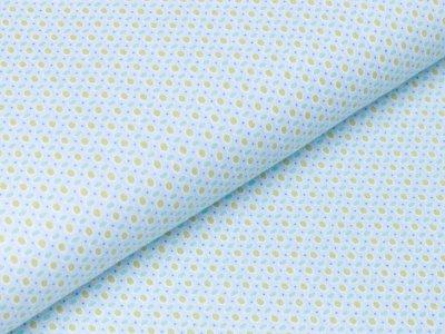 Webware Baumwolle - Punkte - blau