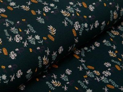 Jersey - verschiedene Blätter - waldgrün