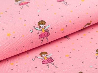 Jersey by Poppy - kleine Feen und Sterne - rosa