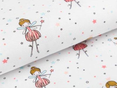 Jersey by Poppy - kleine Feen und Sterne - weiß