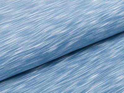 Dehnbarer Sweat French Terry Brushed - schraffiert- helles blau