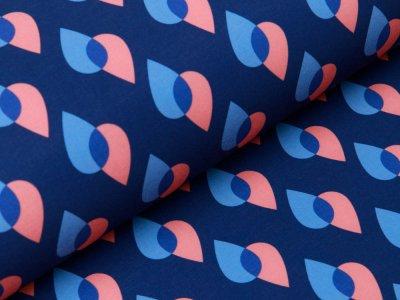 Jackenstoff Softshell by Hamburger Liebe PARK LANE  - Tropfen - blau
