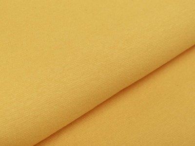 Glattes Bündchen im Schlauch 35 cm - uni gelb