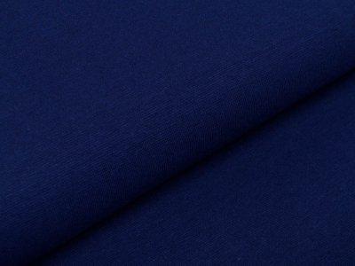 Glattes Bündchen im Schlauch 35 cm - uni kobaltblau