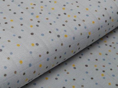 Musselin Baumwolle Hydrofiel Double Gauze - Dots - grau