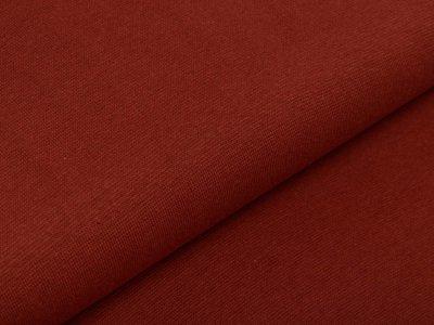 Glattes Bündchen im Schlauch 35 cm - uni terrakotta