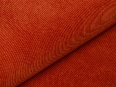 Cord-Jersey Swafing Juna - uni orangerot