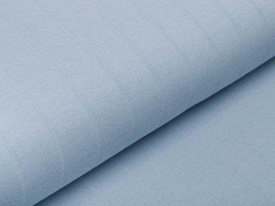 Musselin Baumwolle Hydrofiel Double Gauze - Karo-Optik - uni pastellblau