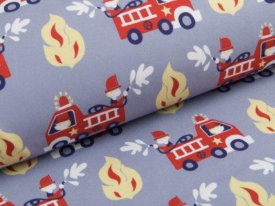 Jackenstoff Softshell - Feuerwehr - grau