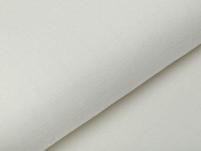 Musselin Baumwolle Hydrofiel Double Gauze - Karo-Optik - uni wollweiß