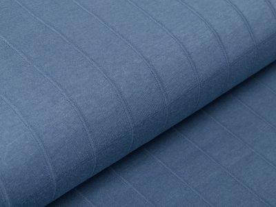 Musselin Baumwolle Hydrofiel Double Gauze - Karo-Optik - uni jeansblau
