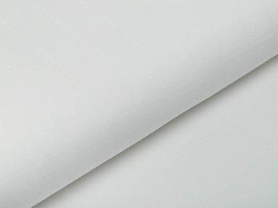 Musselin Baumwolle Hydrofiel Double Gauze - Karo-Optik - uni weiß