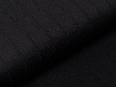 Musselin Baumwolle Hydrofiel Double Gauze - Karo-Optik - uni schwarz
