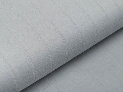 Musselin Baumwolle Hydrofiel Double Gauze - Karo-Optik - uni grau
