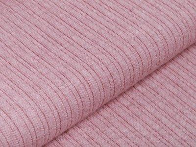 Struktur Strickstoff Viskose Melange - Cordoptik - meliert helles rosa