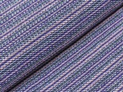 KDS Queen's Collection Iris - Strickstoff - gestreift - grau/lila/rosa