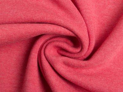 Glattes Bündchen im Schlauch meliert - helles rot