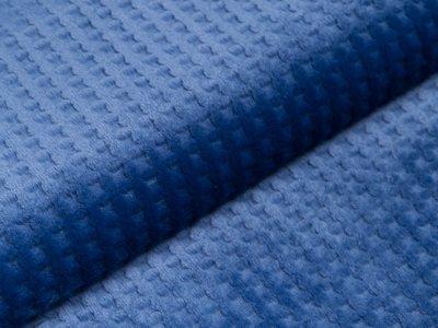 Wellnessfleece - Waffeloptik - nachtblau