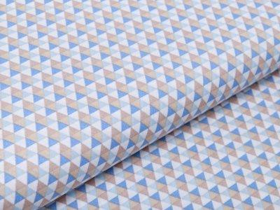 Webware Baumwolle Popeline - kleine Dreiecke - gelb