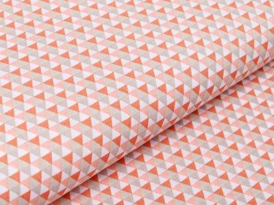 Webware Baumwolle Popeline - kleine Dreiecke - helles orange