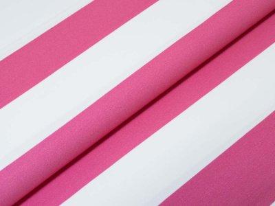 KDS Queen's Collection Kaya - Jersey Viskose - Blockstreifen - pink/weiß