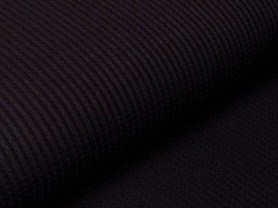 Jersey Waffeloptik Snoozy - uni schwarz