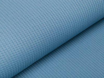 Jersey Waffeloptik Snoozy - uni blau