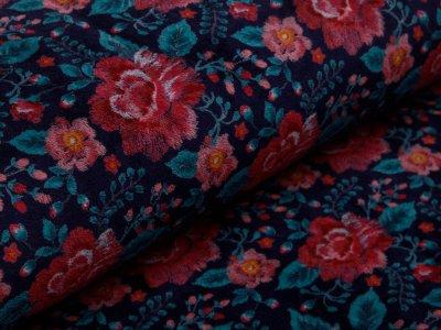 Nicki - romantische Blumen - nachtblau