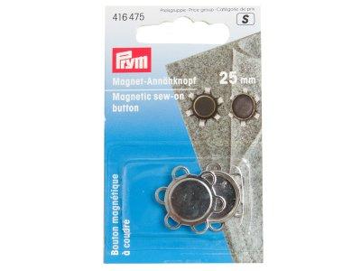 Magnet-Annähknopf Prym 1Stk/25mm - silber