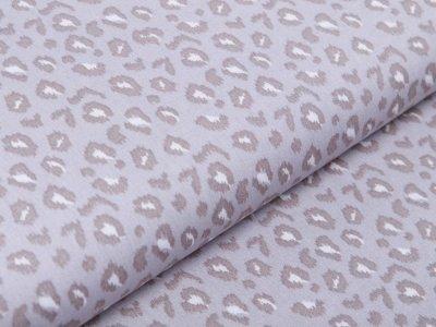 Webware Baumwolle Popeline - Animalprint-Leopard - grau
