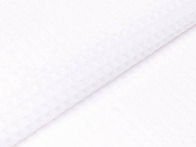 Wellnessfleece - Waffeloptik - weiß