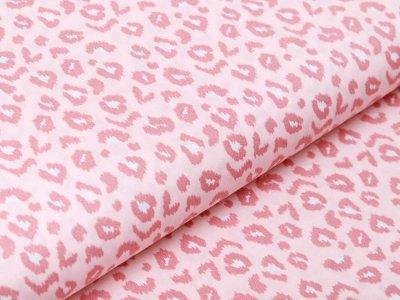 Webware Baumwolle Popeline - Animalprint-Leopard - rosa