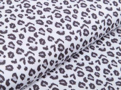 Webware Baumwolle Popeline - Animalprint-Leopard - wollweiß