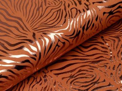 Jersey mit Foliendruck - Zebra - ocker