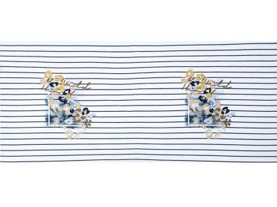 KDS Queen's Collection Afina - Jersey Viskose Panel ca. 75cm x 155cm - Animalprint auf Streifen - weiß