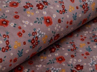 Nicki - kleine Blumen - grau