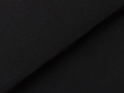 KDS Queen's Collection Kivi - Angeraute, leicht elastische Webware mit weicher Innenseite - uni schwarz