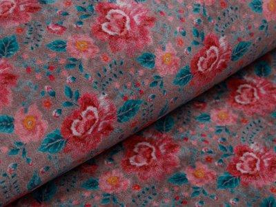 Nicki - romantische Blumen - grau