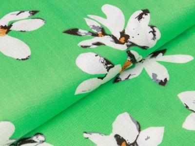 Webware Viskose - Blüten - grün