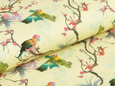 Jersey Pandora Bipp Design® - Aras auf Zweigen - pastellgelb