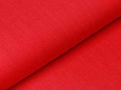 Webware Viskose - Leinenoptik - uni rot