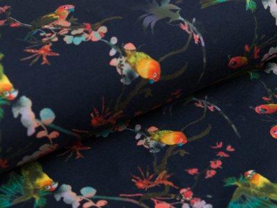 Jersey Pandora Bipp Design® - Aras auf Zweigen - marine