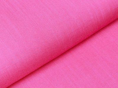 Webware Viskose - Leinenoptik - uni pink