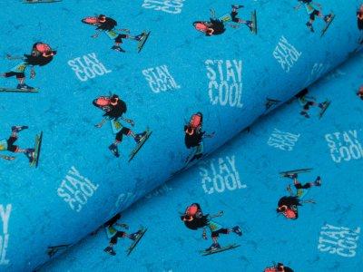 Sweat French Terry KATINOH - Keep calm - stay cool - blau
