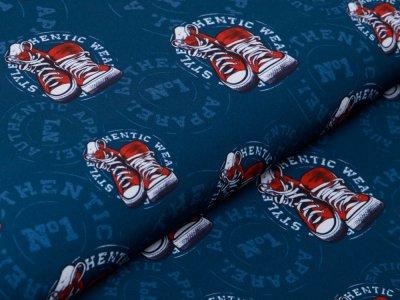 Softshell Jackenstoff KATINOH - Sneaker - marine