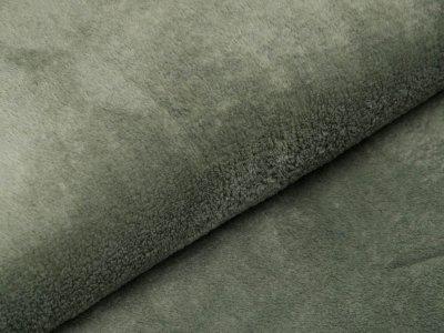 Wellnessfleece Teddyplüsch - uni altgrün