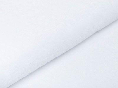 Bambus Fleece - uni weiß